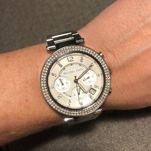 Michael Kors silvertone watch